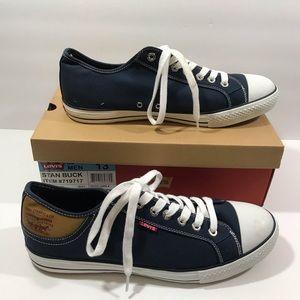 NEW Levi's Stan Buck men's navy blue sneakers